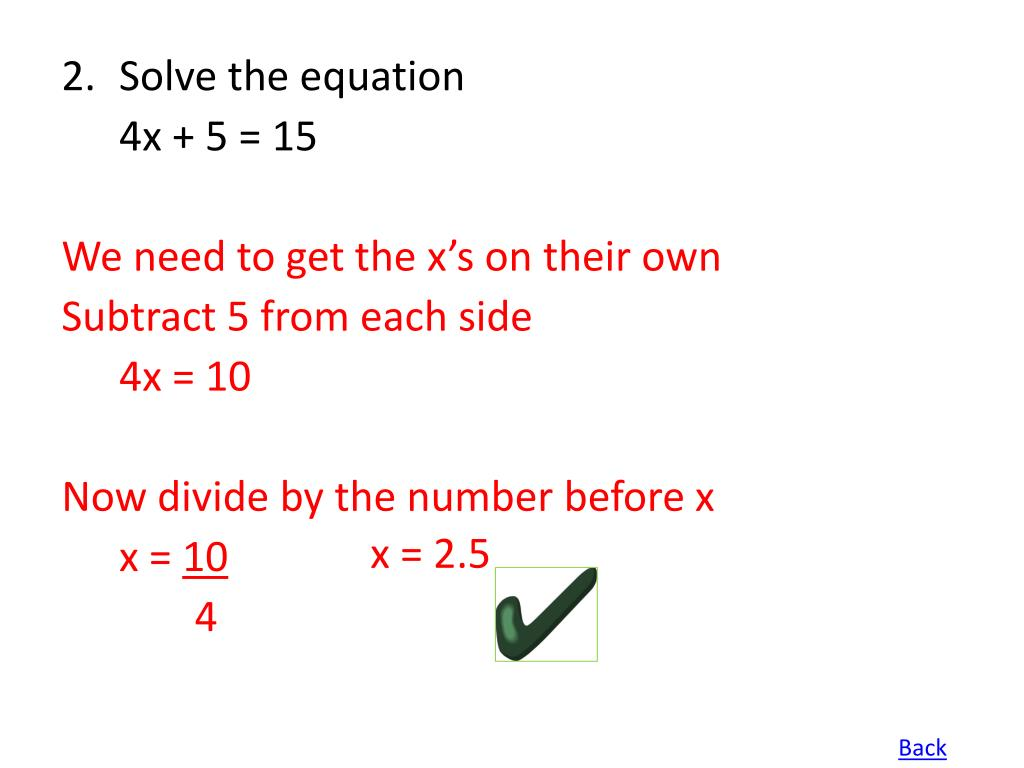 2.Solve the equation