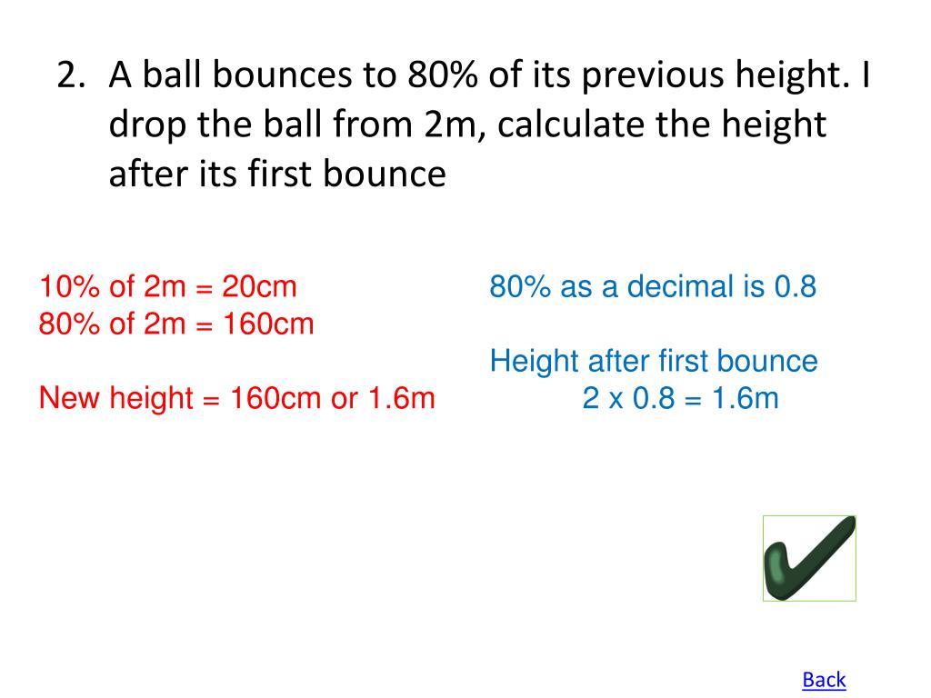 10% of 2m = 20cm