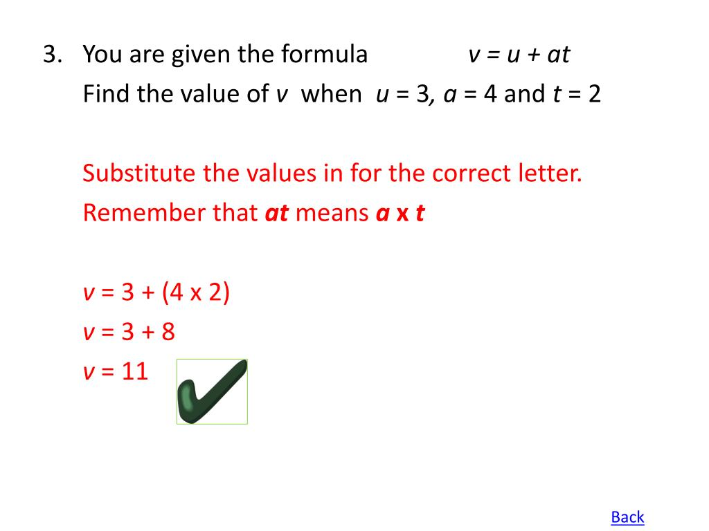 3.You are given the formula