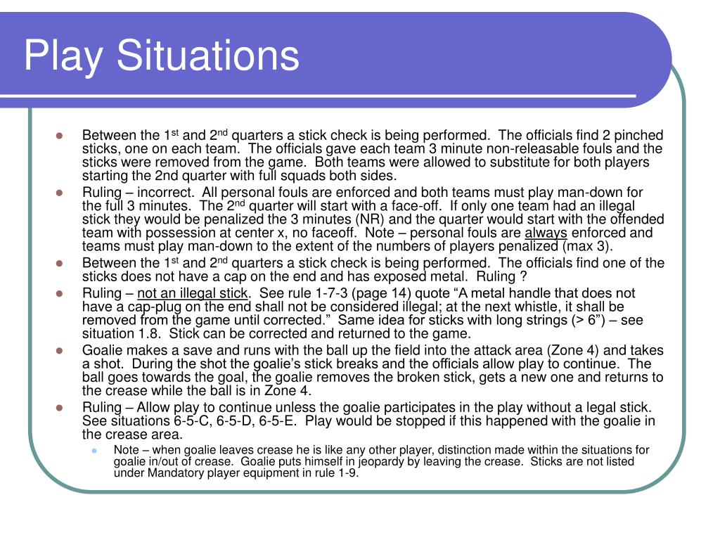 Play Situations