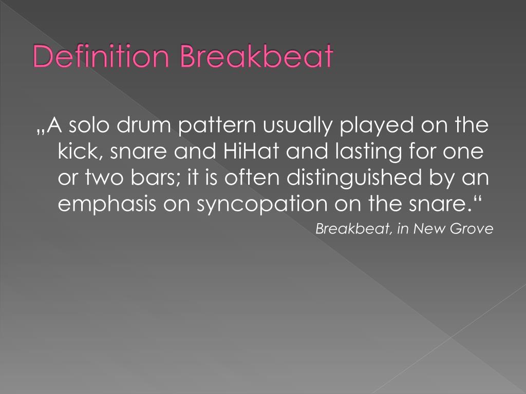 Definition Breakbeat