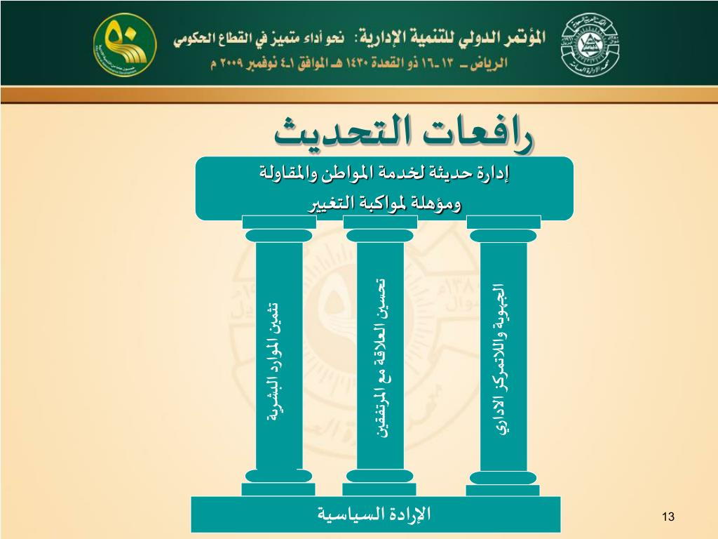 إدارة حديثة لخدمة المواطن والمقاولة