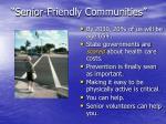 senior friendly communities