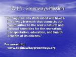 w i n greenways mission