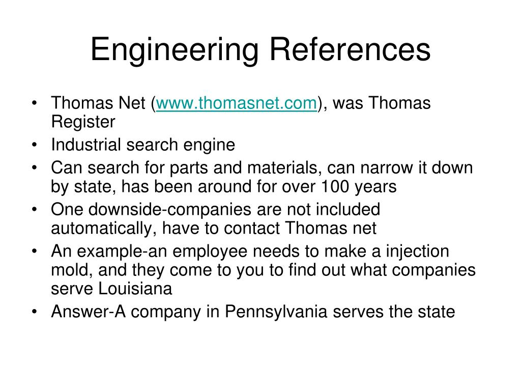 Engineering References