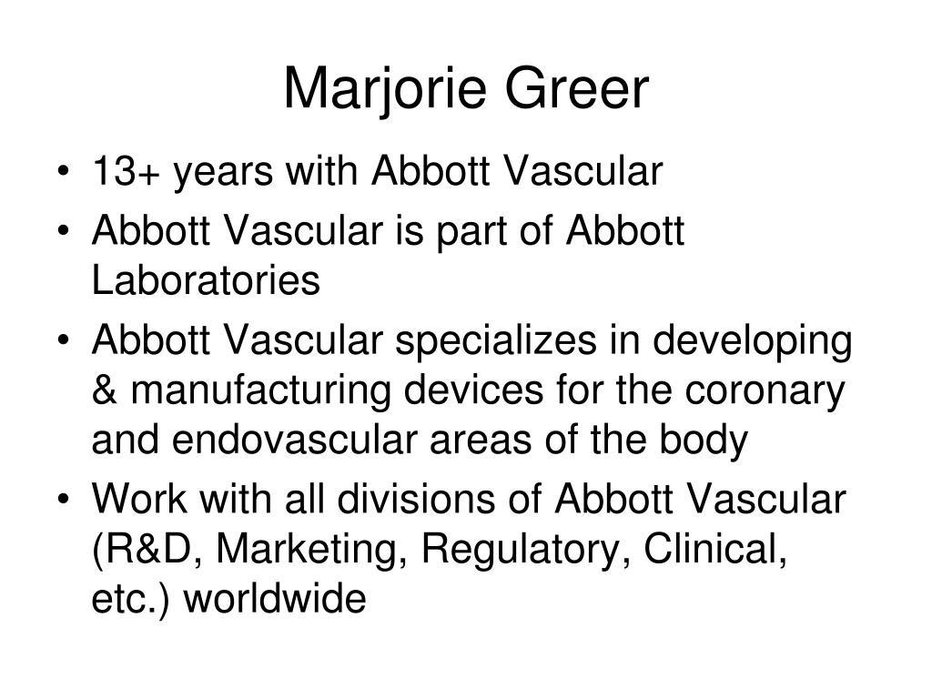 Marjorie Greer
