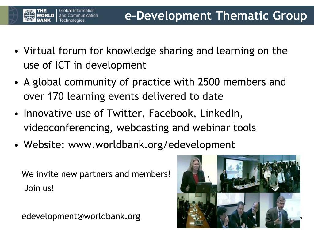 e-Development Thematic Group