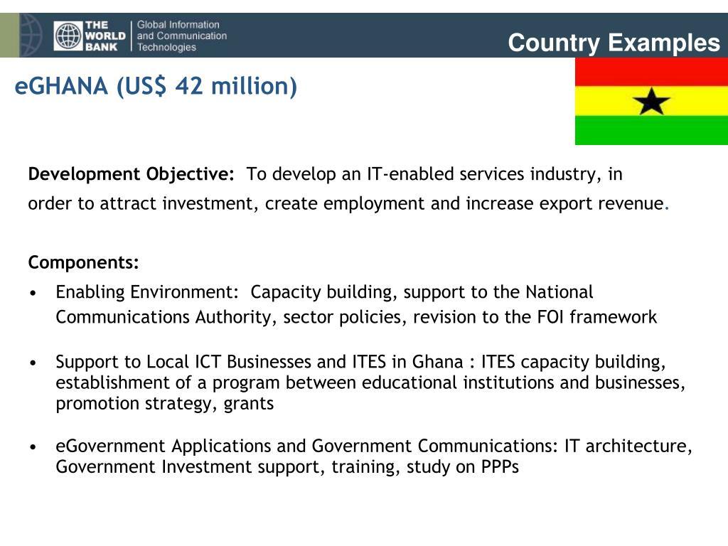 eGHANA (US$ 42 million)