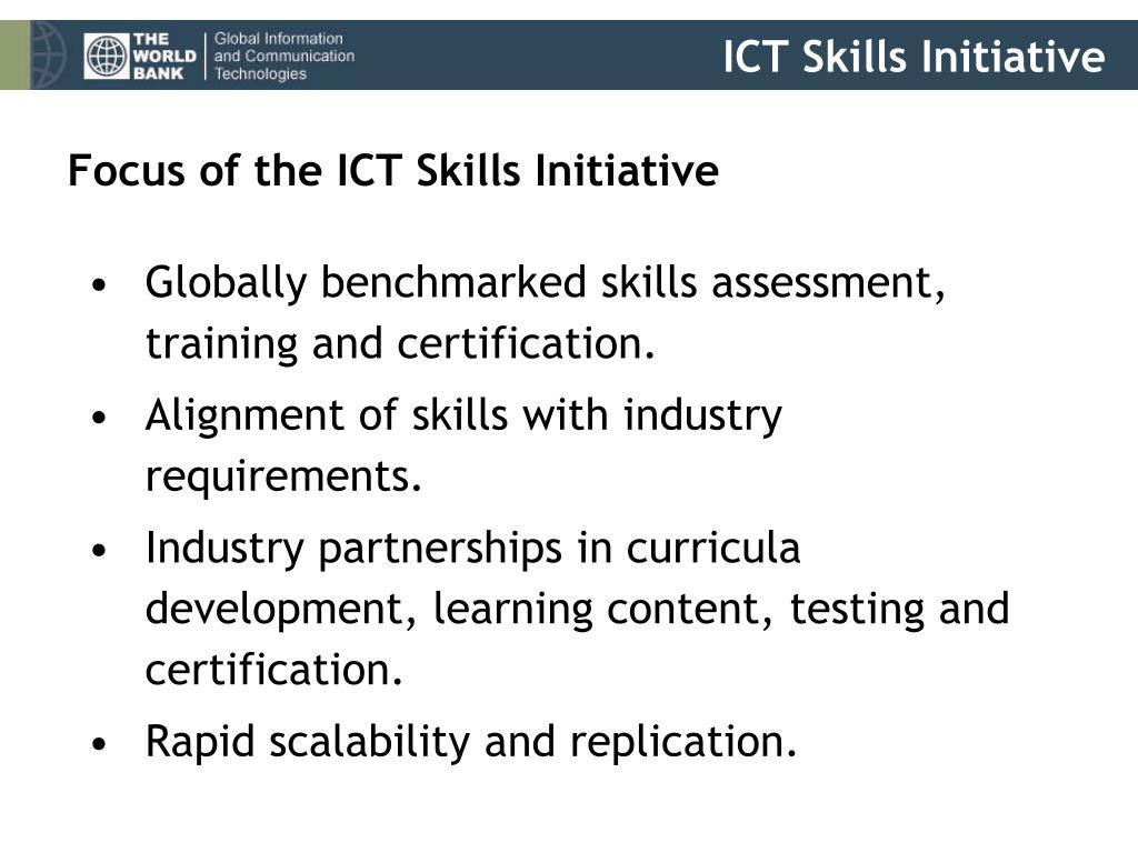 Focus of the ICT Skills Initiative