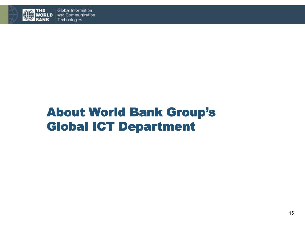 About World Bank Group's