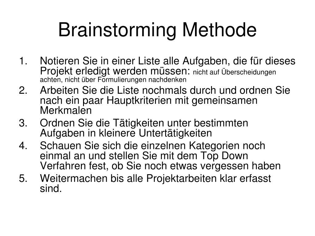 Brainstorming Methode