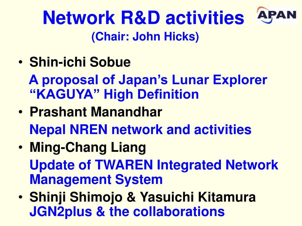 Network R&D activities