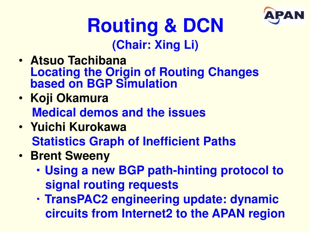 Routing & DCN