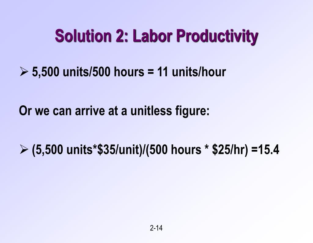 Solution 2: Labor Productivity