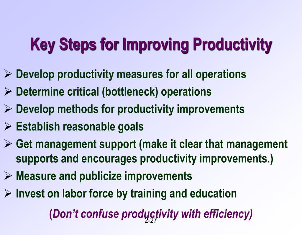 Key Steps for