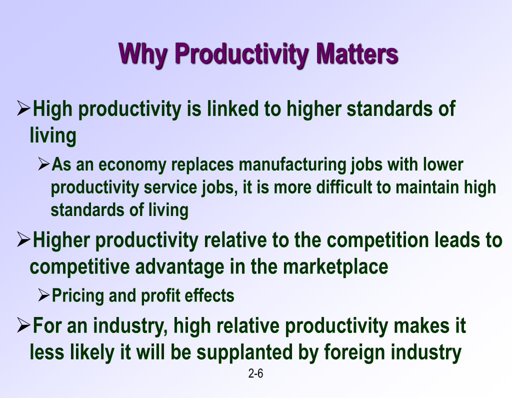 Why Productivity Matters