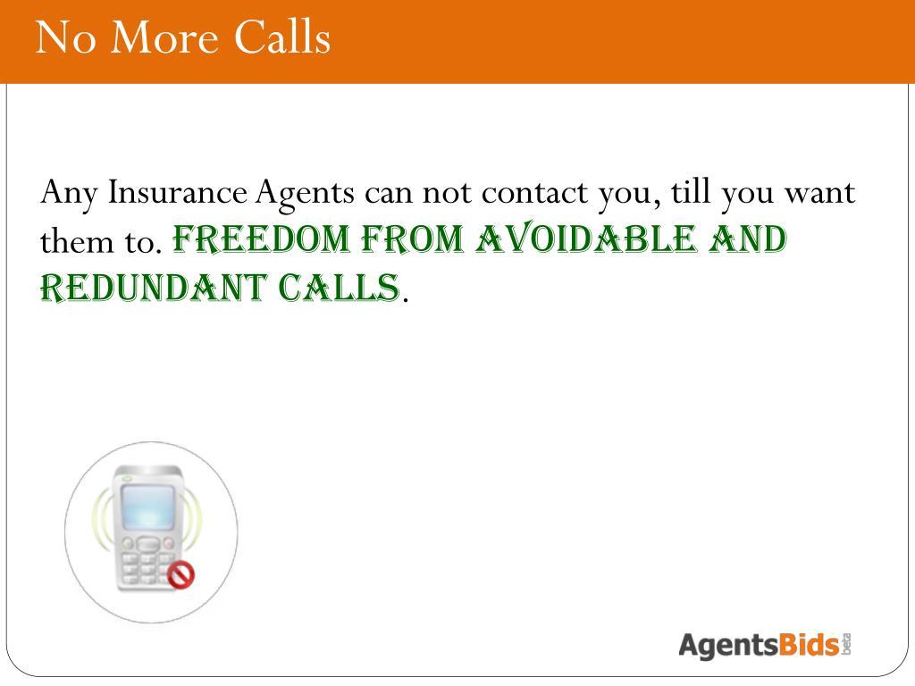 No More Calls