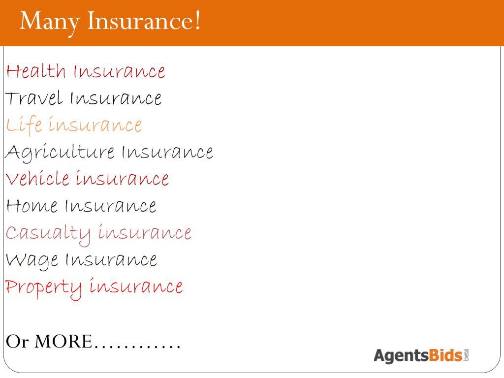 Many Insurance!