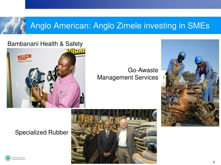Anglo American: Anglo Zimele investing in SMEs