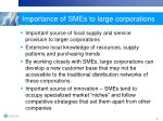 importance of smes to large corporations
