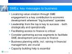 smes key messages to business