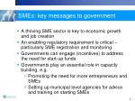smes key messages to government