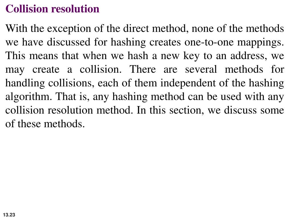 Collision resolution