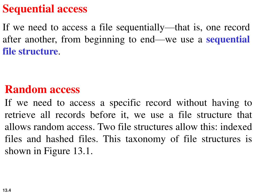 Sequential access