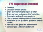 fyi negotiation protocol