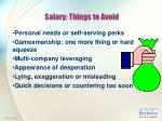 salary things to avoid