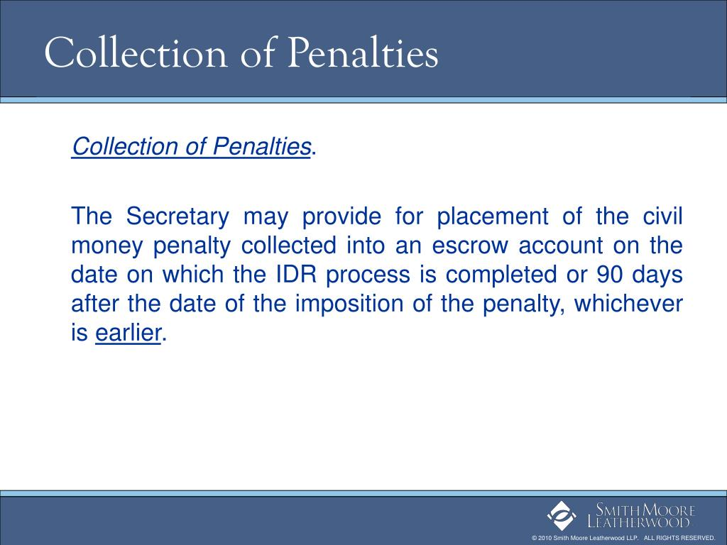 Collection of Penalties