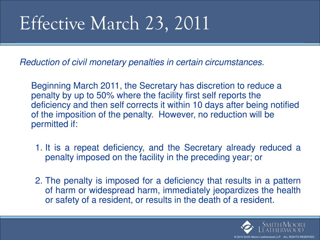 Effective March 23, 2011
