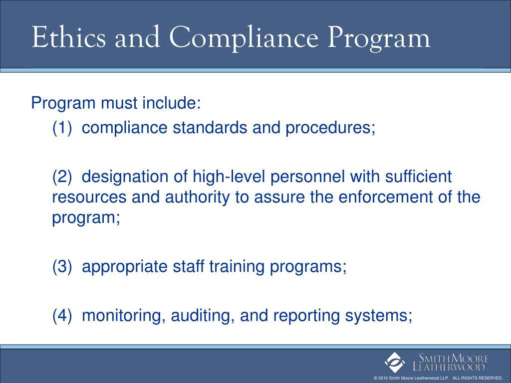 Ethics and Compliance Program