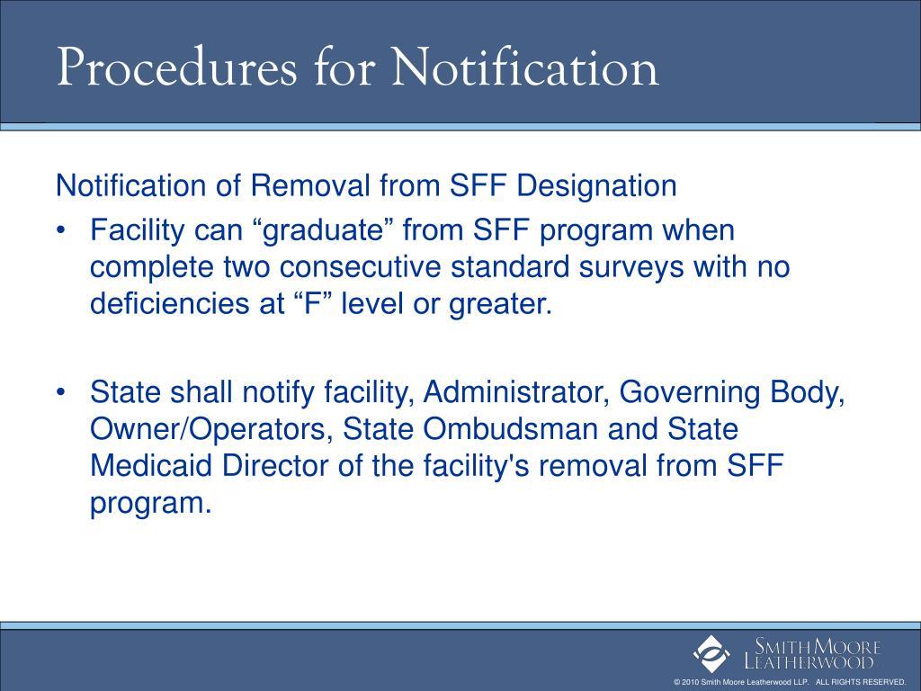 Procedures for Notification