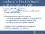 regulations in final rule stage to be effective march 23 201127