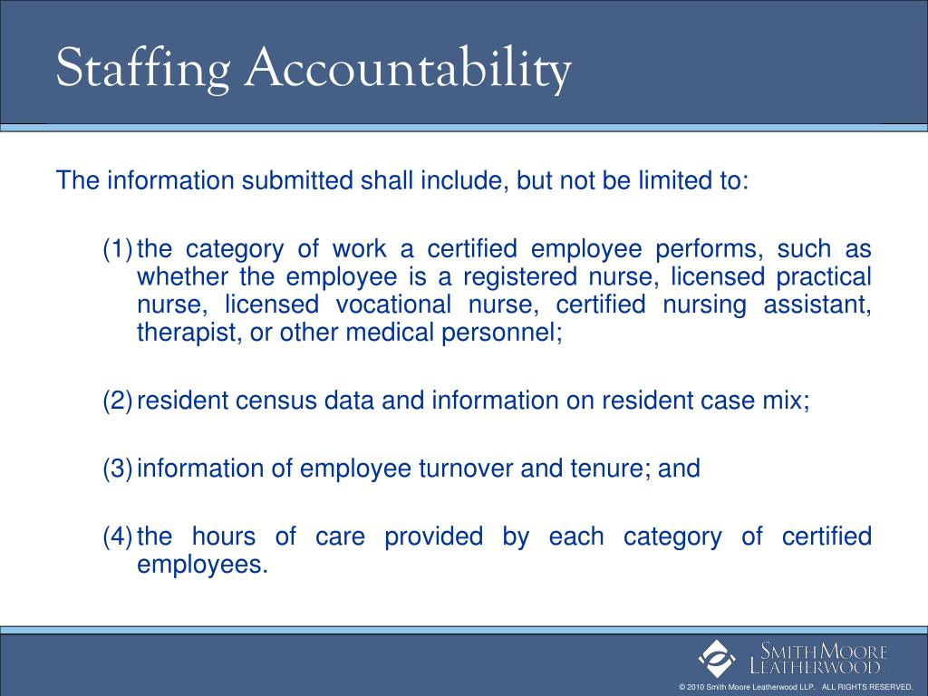 Staffing Accountability