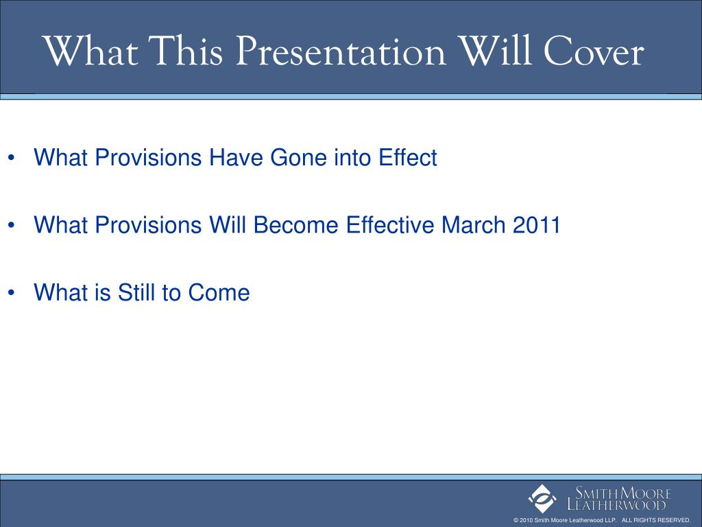 What This Presentation Will Cover