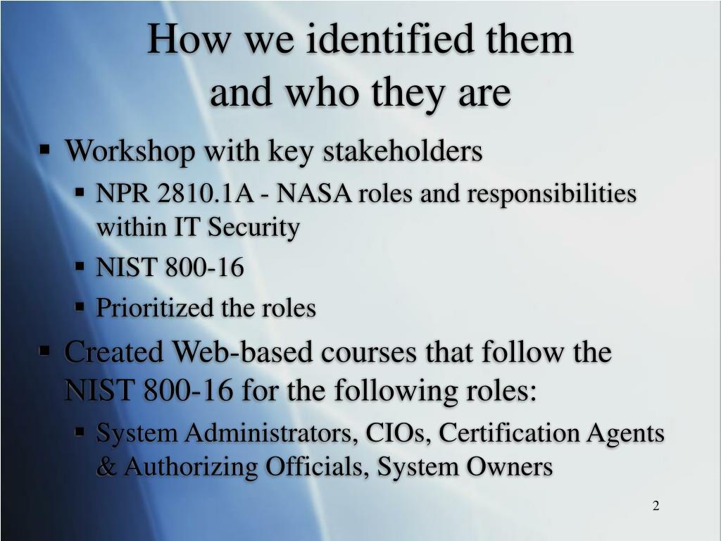 How we identified them
