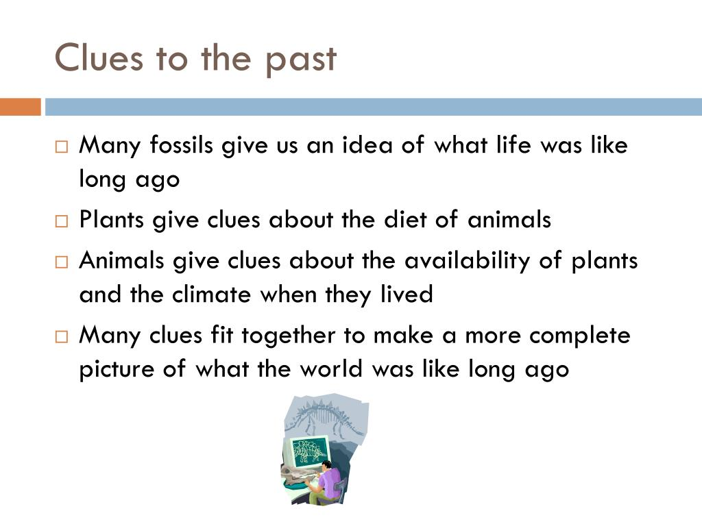 Clues to the past