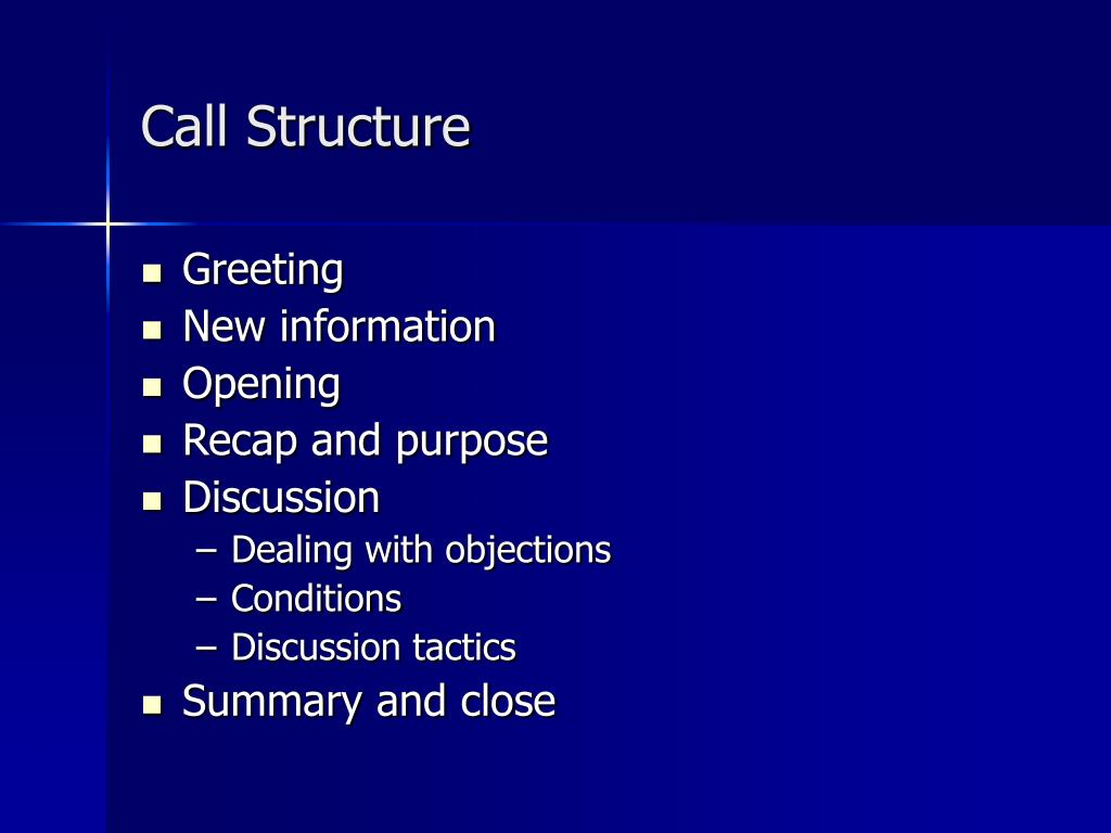 Call Structure