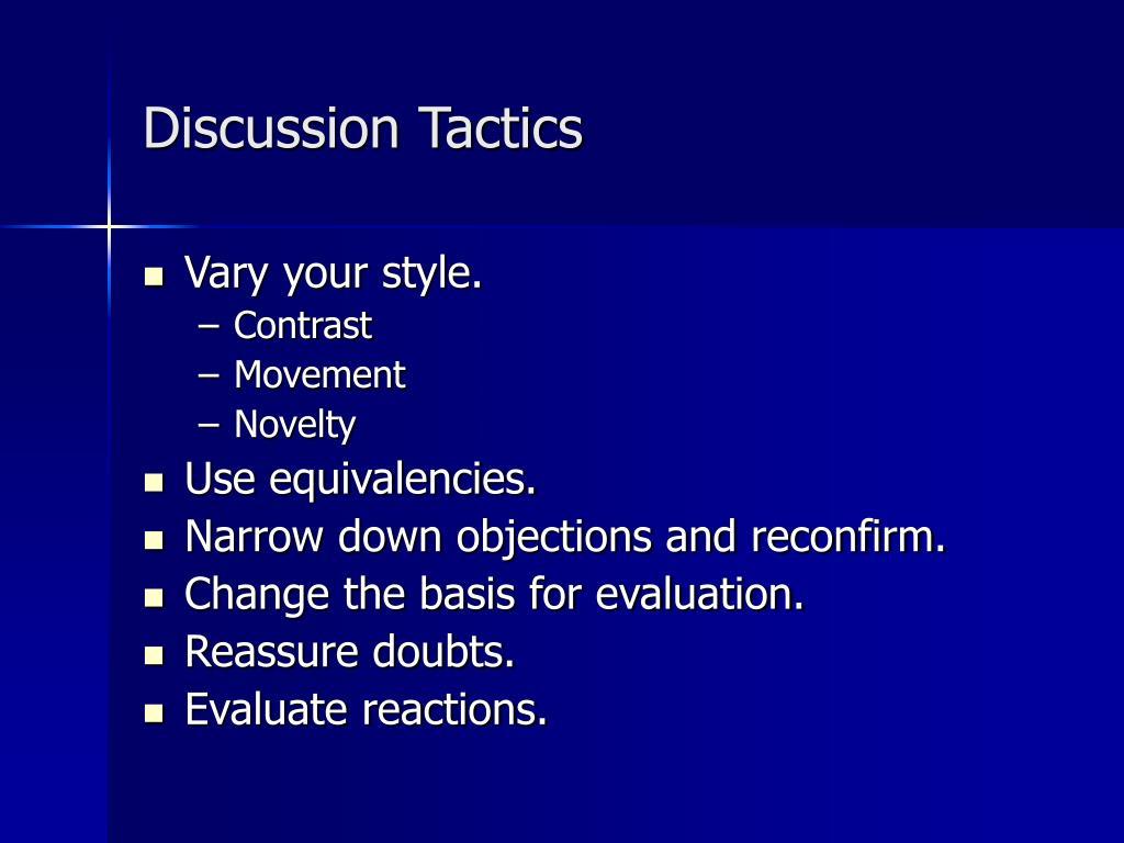 Discussion Tactics