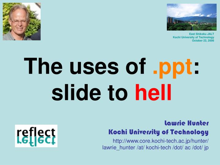 The uses of ppt slide to hell