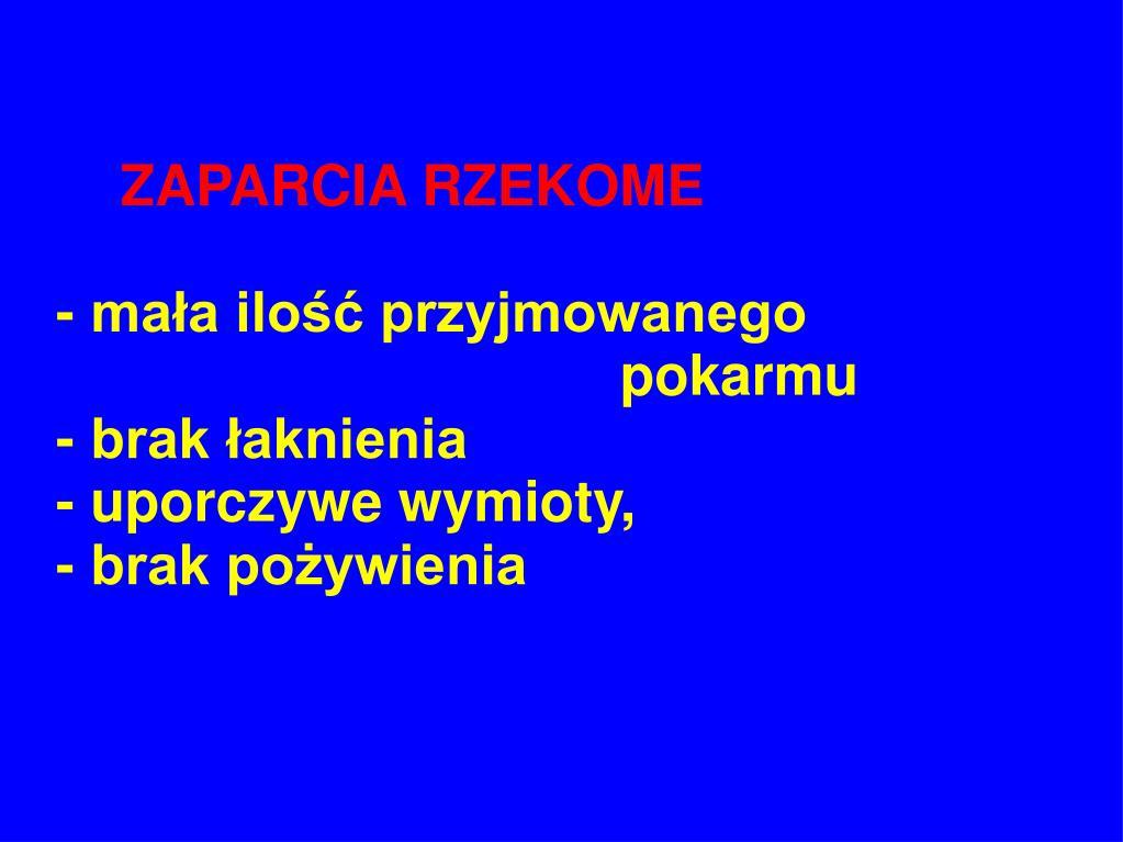 ZAPARCIA RZEKOME
