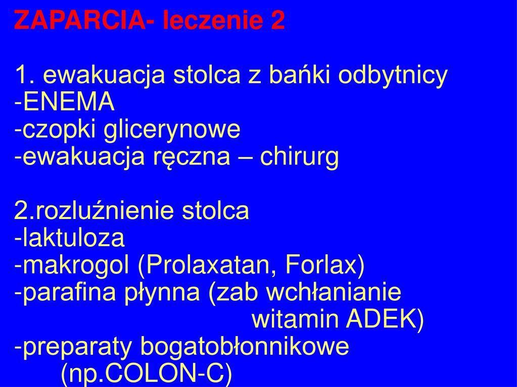 ZAPARCIA- leczenie 2