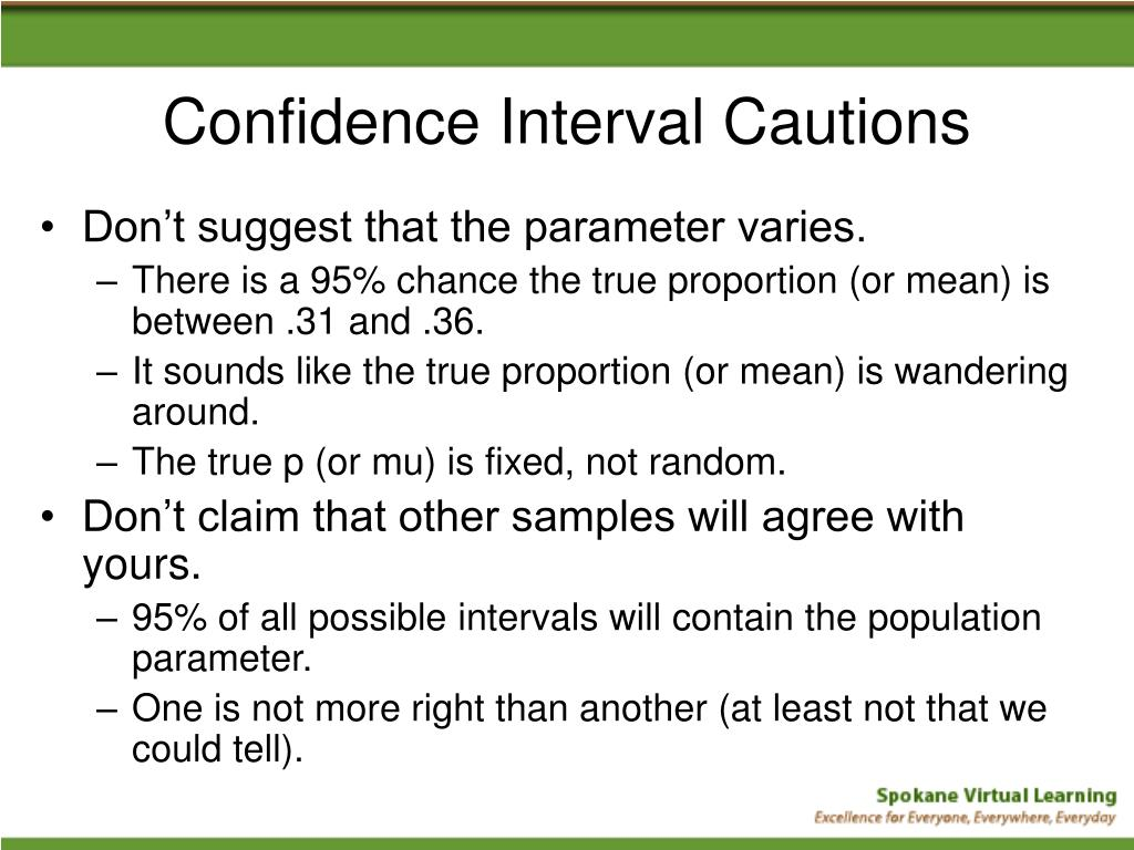 Confidence Interval Cautions