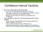 confidence interval cautions14