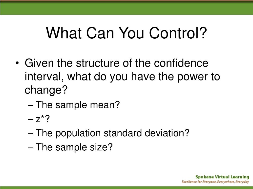 What Can You Control?