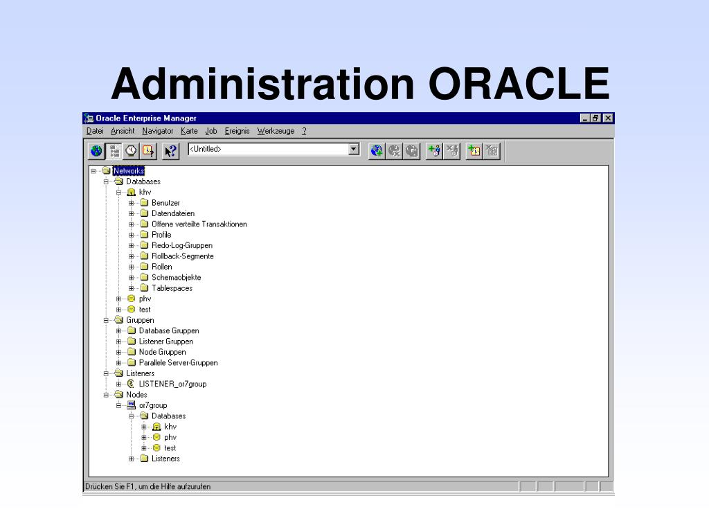 Administration ORACLE