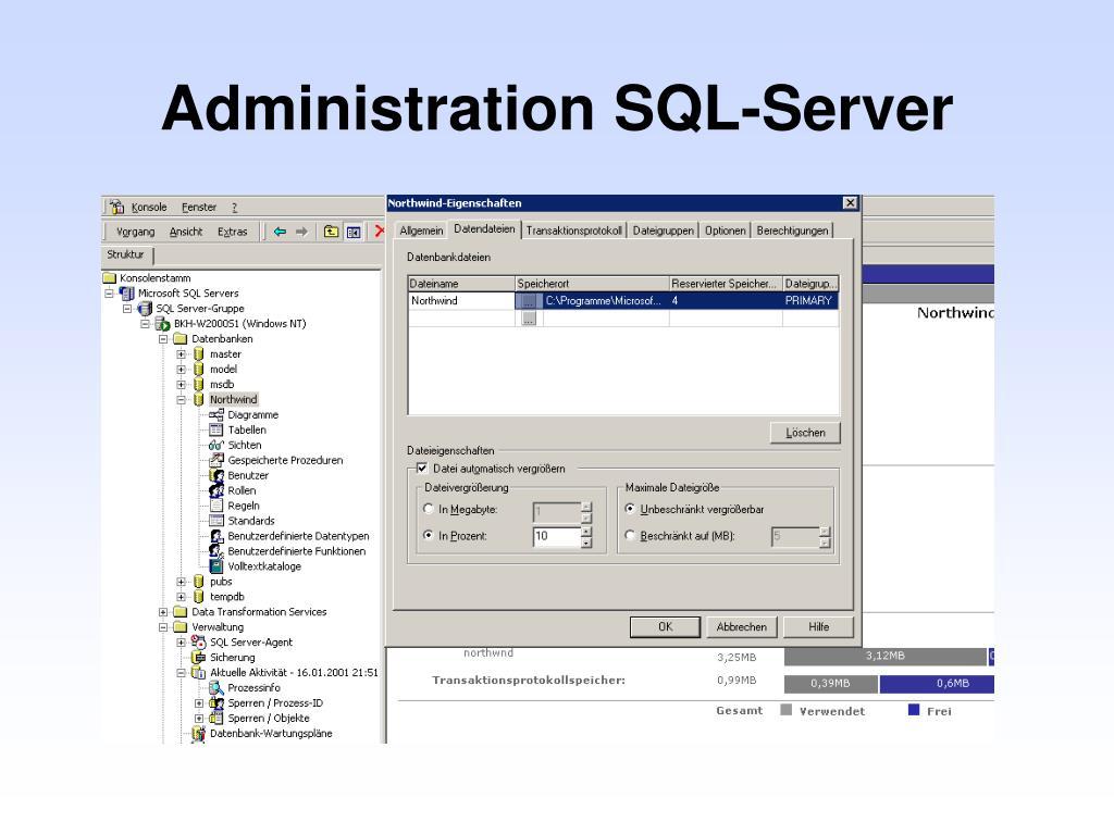 Administration SQL-Server