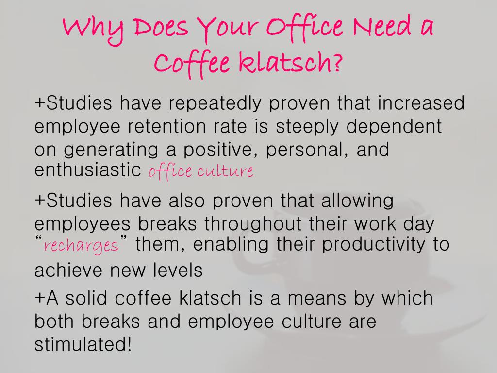 Why Does Your Office Need a Coffee